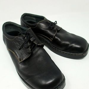 Born black leather oxford lace up